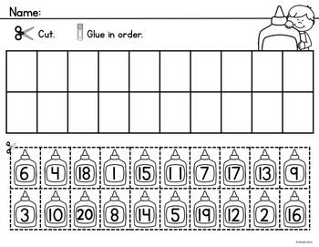 numbers 1 20 school learning kindergarten math activities ordering numbers math numbers