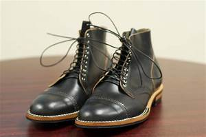 SOLD: Viberg Boots in Black Shell Cordovan – 10.5D – Alden of San Diego  Black