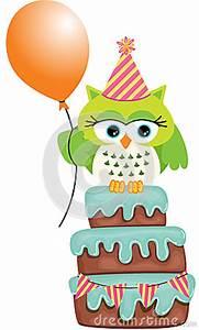 Birthday Greeting Card Background Design Birthday Owl Cake Stock Vector Image 44575133