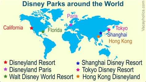list  disney parks   world