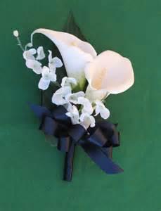 black and white corsage white calla 39 s corsage navy calla corsage