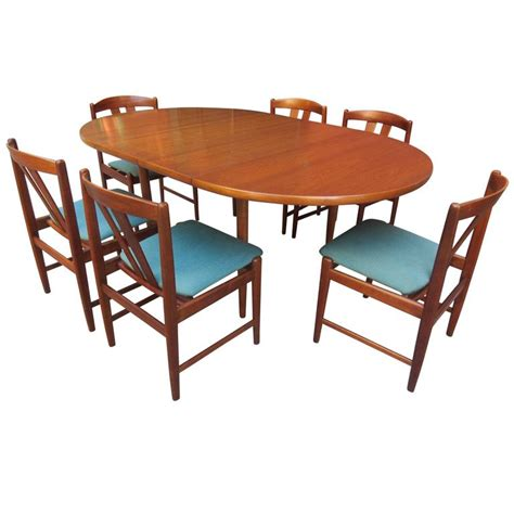 folke ohlsson for dux teak table and chairs set for sale