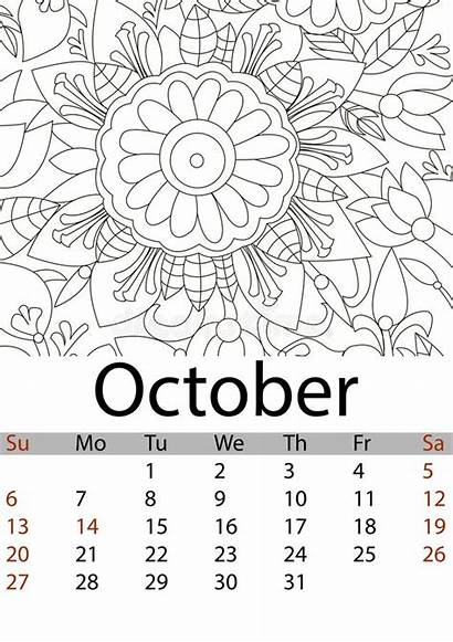 Mandala Raster Antistress October Coloring Flower Patterns