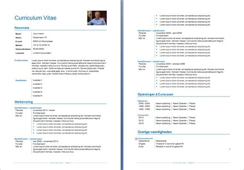 Layout Cv by Cv Layout Voorbeeld Hetmakershuis