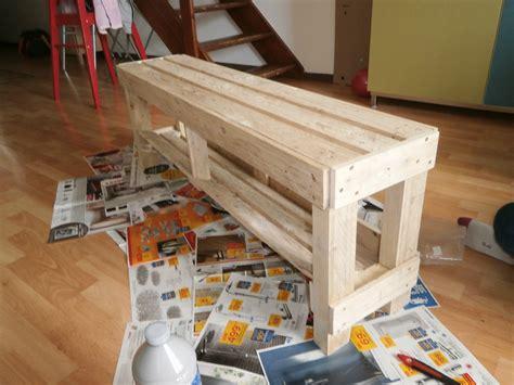 bureau palette banc en bois de palette c comme creation