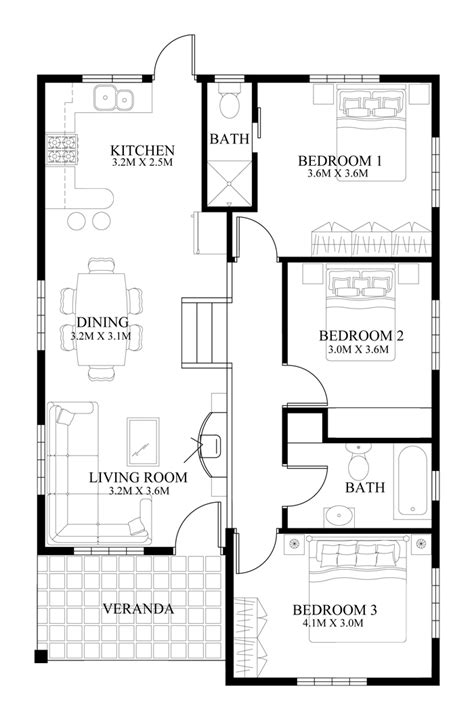 floor plan for small house small house design 2014005 eplans modern house