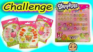 shopkins press on nails challenge opening