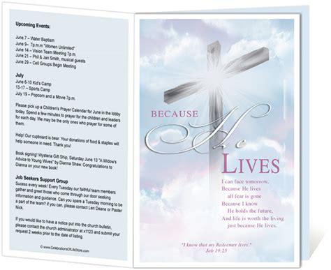 Cross Church Bulletin Template