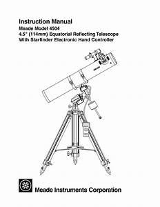Download Free Pdf For Meade 4500 Telescope Manual