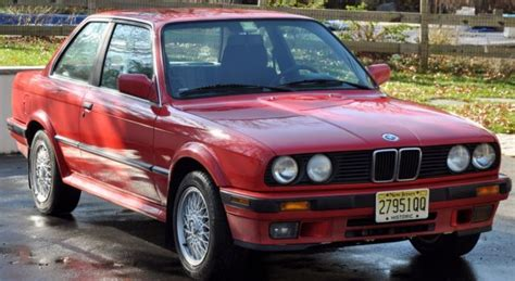 Bmw 3-series Coupe 1990 Red For Sale. Wbaab9310led05156