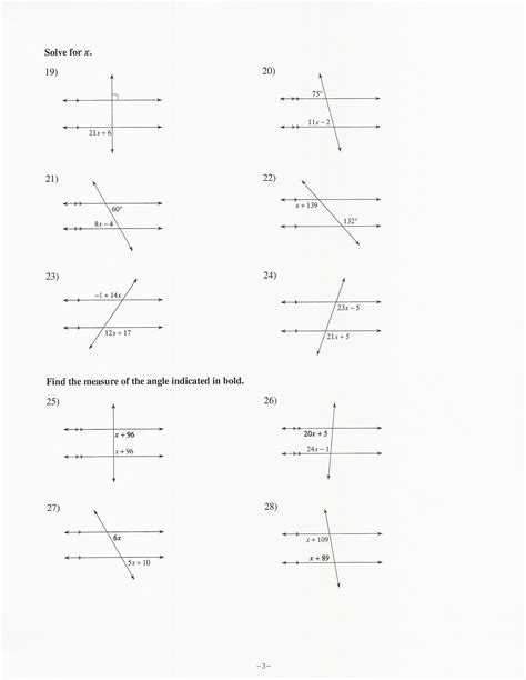 transversal worksheets free worksheets library