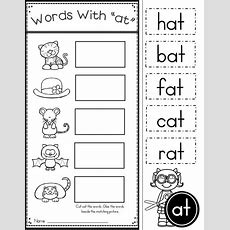 Free Word Family At Practice Printables And Activities  Baby Learning  Kindergarten Reading