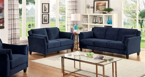 Navy Sofa Living Room by Cm6716 Ysabel Navy Sofa Set Collection