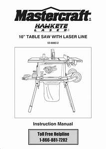 Tradesman 55 6883 2 User Manual Table Saw Manuals And