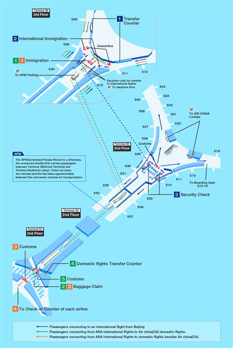 plan des si鑒es air internationaler flughafen peking beijing capital