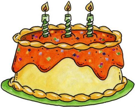 birthday cake  lots  candles clipart