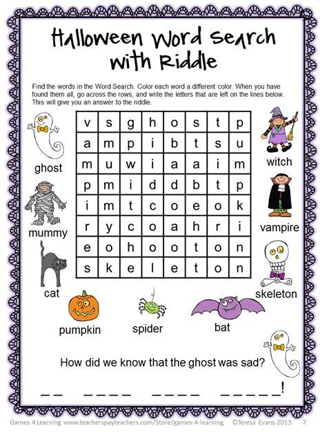 fun games  learning halloween literacy freebies