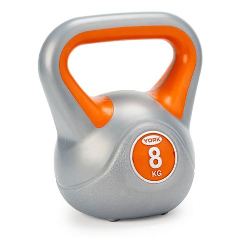 kettlebell 8kg york weight vinyl sweatband