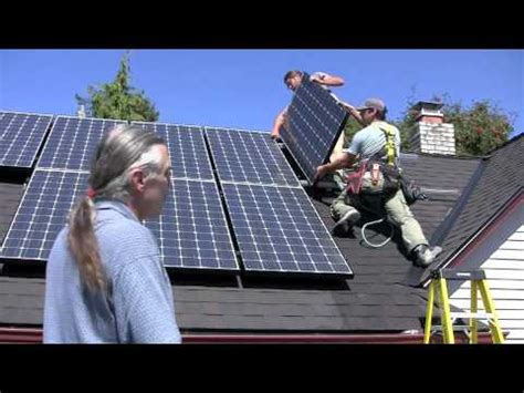 Installing Solar Panels House Youtube