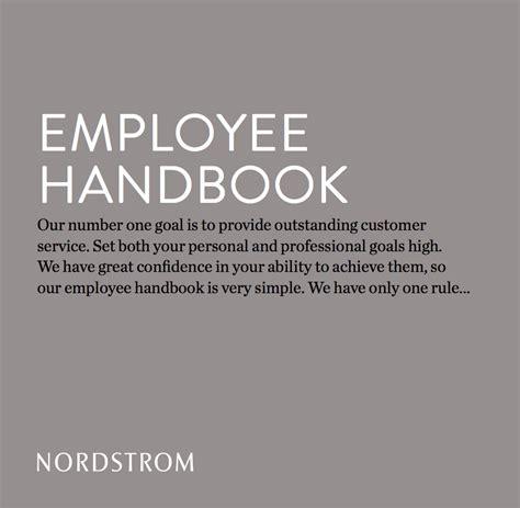 nordstroms employee handbook   single sentence