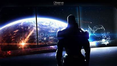 Wallpapers Mass Effect Space Station Sci Fi