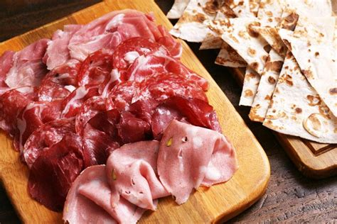 italian cold cuts bacco menu starter and appetize