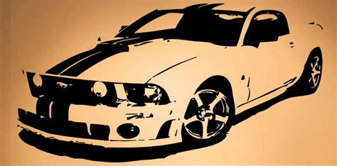 popular race car wall sticker mustang race car fast ford