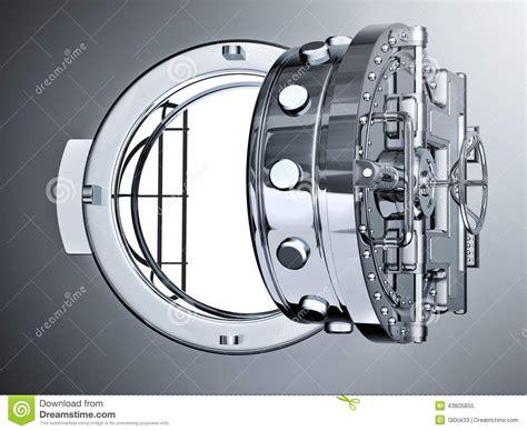 chambre de compensation banque ouvrez la porte de chambre forte de banque illustration