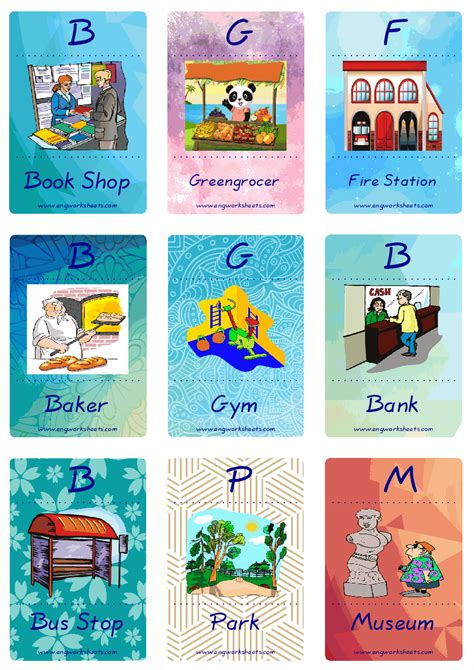 places   city esl printable picture english dictionary