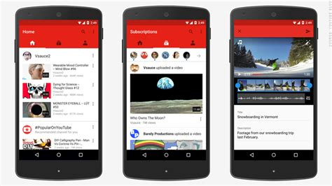youtube redesigns app priority  mobile mobile