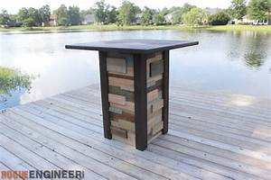 Modern Reclaimed Pub Table { DIY Plans } Rogue Engineer