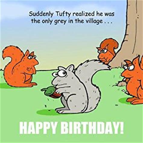 twizler funny birthday card  squirrels happy