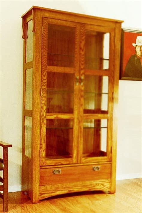 hand crafted mission curio cabinet  grayson artistry  wood custommadecom