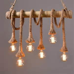aliexpress com buy vintage rope bamboo pendant lights loft creative personality industrial