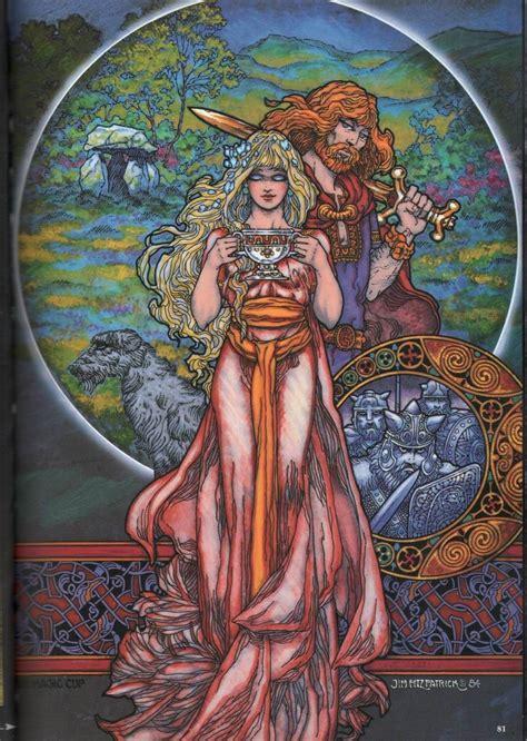 JIM FITZPATRICK-Cu Chalain & Niamh | Celtic fantasy art ...