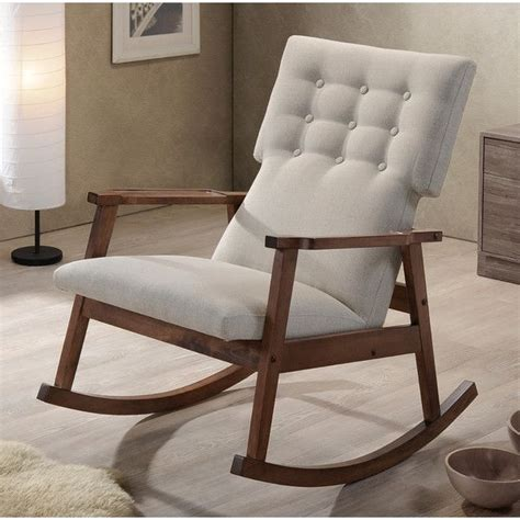 baxton studio rocking chair wayfair nursery inspiration rocking chairs