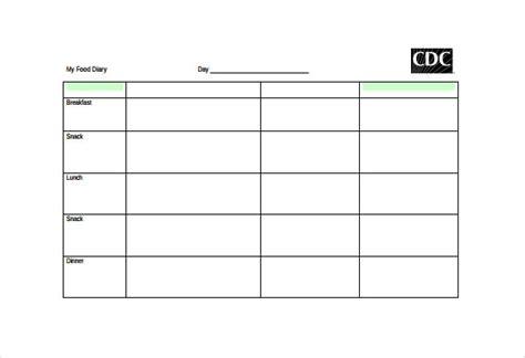 food diary template 30 food log templates doc pdf excel free premium templates