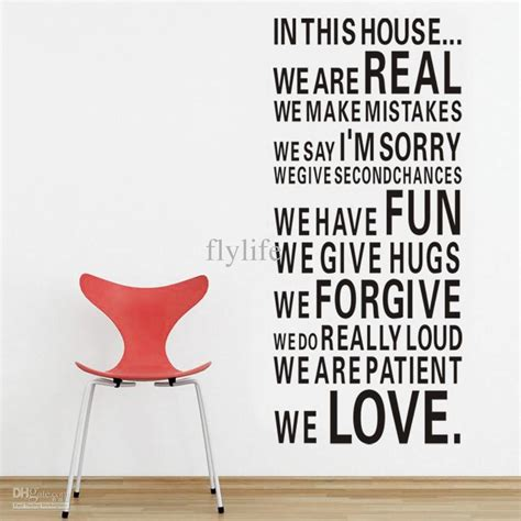 house full  love  fun large size vinyl wall lettering