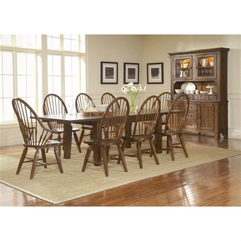 Broyhill Dining Room Furniture by Broyhill Attic Heirlooms Rustic Oak Finish Dining Room Set L