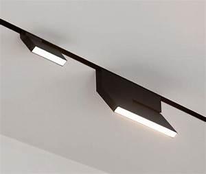Rail De Spot : led rail de spots noir eden design decofinder ~ Dallasstarsshop.com Idées de Décoration