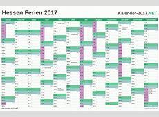 FERIEN Hessen 2017 Ferienkalender & Übersicht