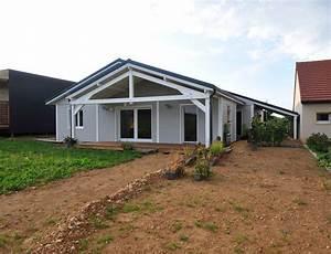 Maison En L Moderne : maison bois plein pied nos maisons ossatures bois maison plain pied ~ Melissatoandfro.com Idées de Décoration