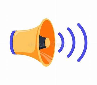 Sound Cartoon Icon Louder Speaker Isolated Pictogram