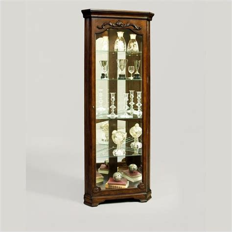 pulaski eden corner curio cabinet 21313