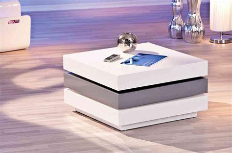 table basse modulable design laqu 233 e blanche et grise salons