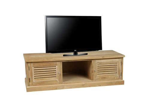 meuble tv t 233 l 233 en teck massif teck in home