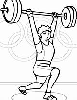 Coloring Pages Weightlifting Weight Lifting Results sketch template