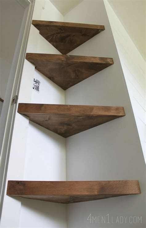 wood corner shelves simple and stylish diy floating shelves for your home Diy