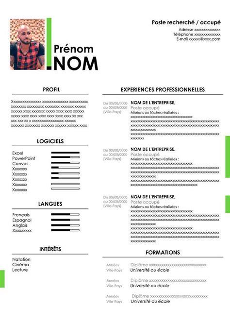 Modele Pour Cv by Mod 232 Le De Cv Moderne 224 T 233 L 233 Charger Gratuit Au Format Word