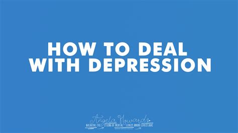 How To Deal With Depression  His Heart Foundation